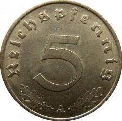 Coin > 5reichspfennig, 1936-1939 - Germany - Third Reich  - reverse