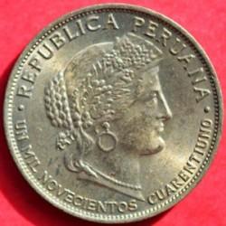 Moneda > 5centavos, 1941 - Perú  (UN MIL NOVECIENTOS CUARENTIUNO) - obverse