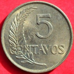 Moneda > 5centavos, 1941 - Perú  (UN MIL NOVECIENTOS CUARENTIUNO) - reverse