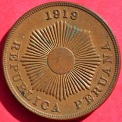 Moneta > 2centavos, 1919 - Peru  - obverse
