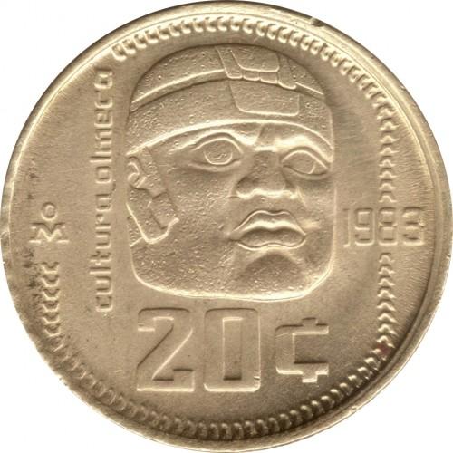 20 Centavos 1983 1984 Mexico