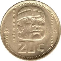 Munt > 20centavos, 1983-1984 - Mexico  - reverse