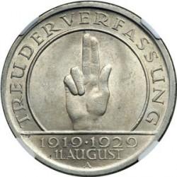 Moneda > 5reichsmark, 1929 - Alemania  (10.° Aniversario de la Constitución de Weimar) - reverse
