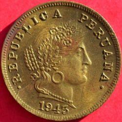 Кованица > 20центи, 1942-1951 - Перу  - obverse