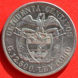Pièce > 50centavos, 1916-1934 - Colombie  - obverse