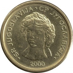 Moneta > 50parų, 2000 - Jugoslavija  - obverse