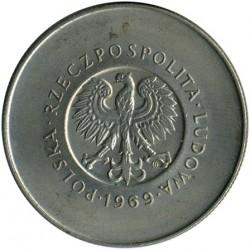 Монета > 10злотих, 1969 - Польща  (25-та річниця - Народна Республіка Польща) - obverse