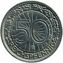 Moneda > 50reichspfennig, 1927-1938 - Alemania  - obverse
