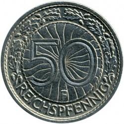 Moneda > 50reichspfennig, 1927-1938 - Alemania  - reverse
