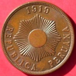 Minca > 1centavo, 1919 - Peru  - obverse