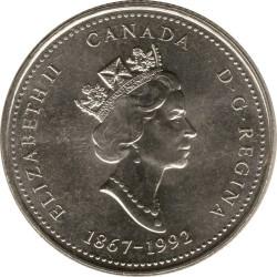 Coin > 25cents, 1992 - Canada  (Yukon) - obverse