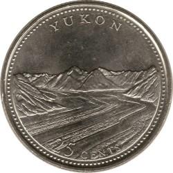 Coin > 25cents, 1992 - Canada  (Yukon) - reverse