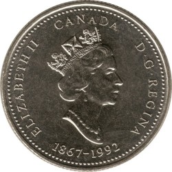 Coin > 25cents, 1992 - Canada  (New Brunswick) - obverse