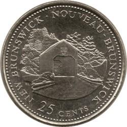 Coin > 25cents, 1992 - Canada  (New Brunswick) - reverse