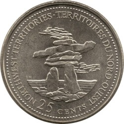 Coin > 25 cents, 1992 - Canada  (Northwest Territories) - reverse