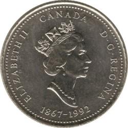 Coin > 25cents, 1992 - Canada  (Ontario) - obverse