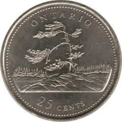 Coin > 25cents, 1992 - Canada  (Ontario) - reverse