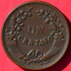 Кованица > 1цент, 1909-1939 - Перу  - reverse