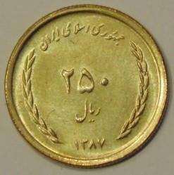 Coin > 250rials, 2008-2011 - Iran  - reverse