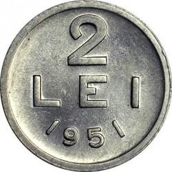 Moneta > 2lei, 1951 - Romania  (Aluminio /colore grigio/) - reverse
