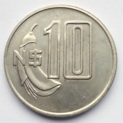 Moneda > 10nuevospesos, 1981 - Uruguay  - reverse