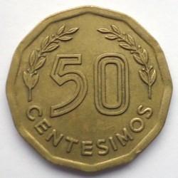 Moneda > 50centésimos, 1976-1981 - Uruguay  - reverse