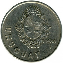Moneda > 1nuevopeso, 1980 - Uruguay  - reverse