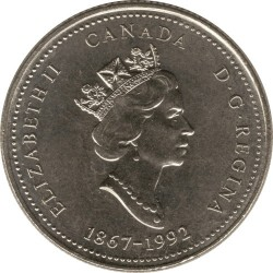 Coin > 25 cents, 1992 - Canada  (Alberta) - obverse