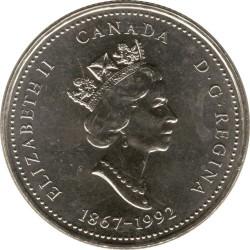 Coin > 25cents, 1992 - Canada  (Nova Scotia) - obverse