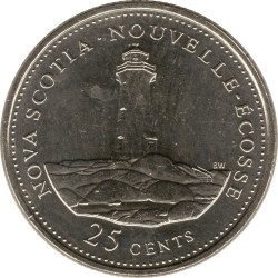 Coin > 25cents, 1992 - Canada  (Nova Scotia) - reverse
