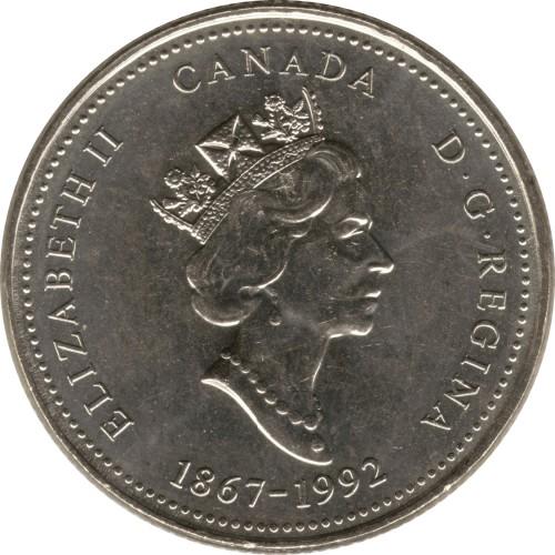 25 Cent 1992 Saskatchewan Kanada Münzen Wert Ucoinnet
