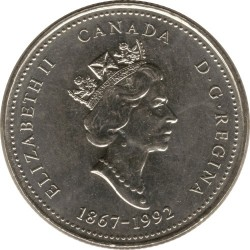 Coin > 25cents, 1992 - Canada  (Saskatchewan) - obverse