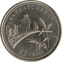 Coin > 25cents, 1992 - Canada  (Saskatchewan) - reverse