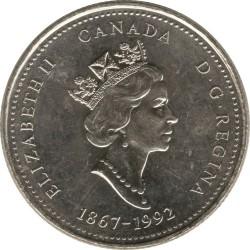 Coin > 25cents, 1992 - Canada  (Quebec) - obverse