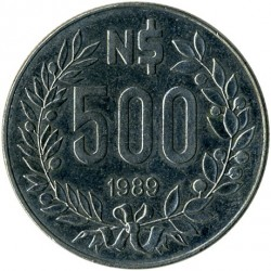 Moneda > 500nuevospesos, 1989 - Uruguay  - obverse