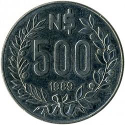 Moneda > 500nuevospesos, 1989 - Uruguay  - reverse