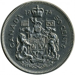 Mynt > 50 cents, 1968-1976 - Canada  - reverse