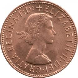 Moneta > ½penny, 1954-1970 - Regno Unito  - obverse