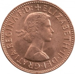 Moeda > ½pence, 1954-1970 - Reino Unido  - obverse