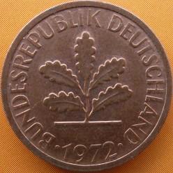 Coin > 1pfennig, 1972 - Germany  - obverse