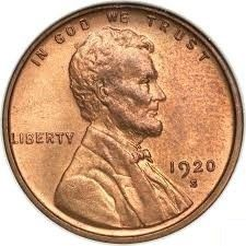 Moneta > 1 centesimo, 1909-1942 - USA  (Wheat Penny, Lincoln) - obverse