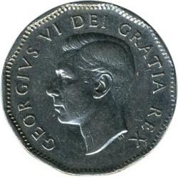 Moneta > 5centów, 1948-1950 - Kanada  - obverse