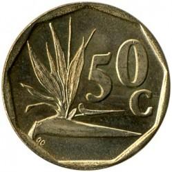 العملة > 50سنت, 1990-1995 - جنوب أفريقيا  - reverse