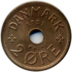 Coin > 2ore, 1926-1940 - Denmark  - obverse