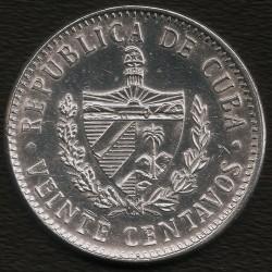 Moneta > 20centavos, 1969-2018 - Cuba  - obverse