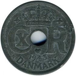 Pièce > 25ore, 1941-1945 - Danemark  - obverse