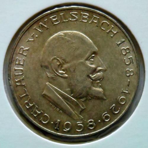 25 Schilling 1958 Carl Auer Von Welsbach österreich Münzen Wert
