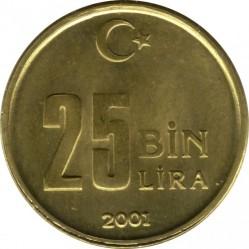 Кованица > 25.000лира, 2001-2004 - Турска  - reverse