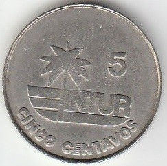 מטבע > 5 סנטאבו, 1981 - קובה  (Denomination with number 5) - obverse