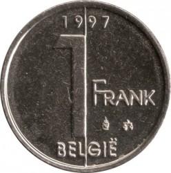 Minca > 1franc, 1994-2001 - Belgicko  (Legend in Dutch - 'BELGIE') - reverse